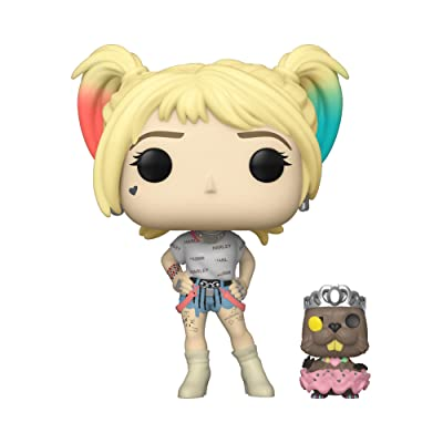 Funko Pop! Heroes: Birds of Prey - Harley Quinn with Beaver, Multicolour: Toys & Games