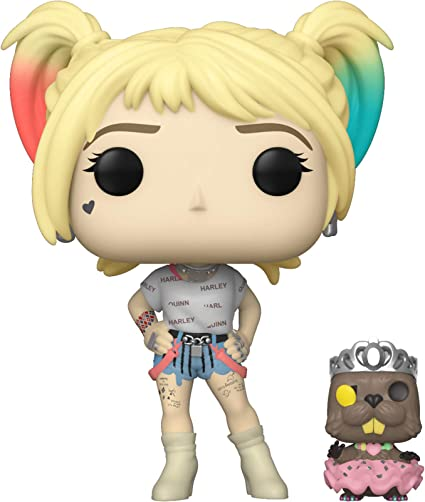 Amazon Com Funko Pop Heroes Birds Of Prey Harley Quinn With Beaver Multicolour Funko Toys Games