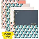 """Five Star Spiral Notebook, 1 Subject, College Ruled Paper, 100 Sheets, 11"""" x 8-1/2"""", Design Selected For You, 1 Count (06348)"""