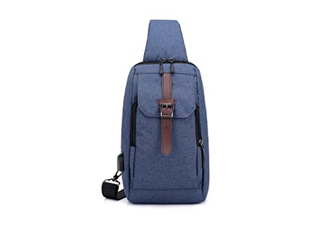 Tofern Unisex Multi-Function Water Repellent Chest Sling Bag Shoulder Crossbody Pack Travel Bags Casual Daypack for Outdoor Hiking Camping Climbing