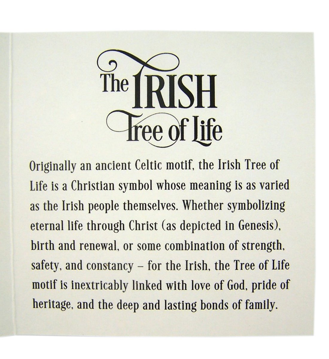 Amazon the irish tree of life wood toned resin celtic amazon the irish tree of life wood toned resin celtic ornament with god bless our family back 3 inch home kitchen buycottarizona Gallery