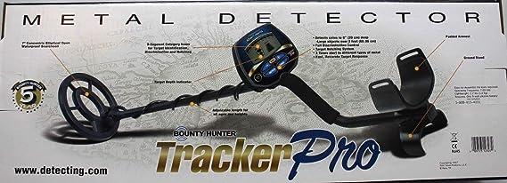 Amazon.com : BOUNTY HUNTER TRACKER PRO ADJUSTABLE METAL DETECTOR w/ LCD TARGET ID : Garden & Outdoor