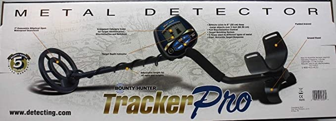 Amazon.com : BOUNTY HUNTER TRACKER PRO ADJUSTABLE METAL DETECTOR w/ LCD TARGET ID : Garden & Outdoor