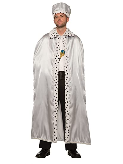 7192beb8258 Forum Novelties Royal King Cape for Adults, Silver