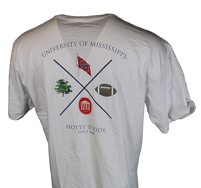 Ole Miss Fundamental Proper Cotton T Shirt White At Amazon Men S