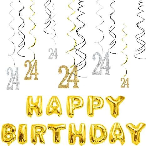 Amazon.com: 34 globos dorados de globo sw-24 de 40 pulgadas ...