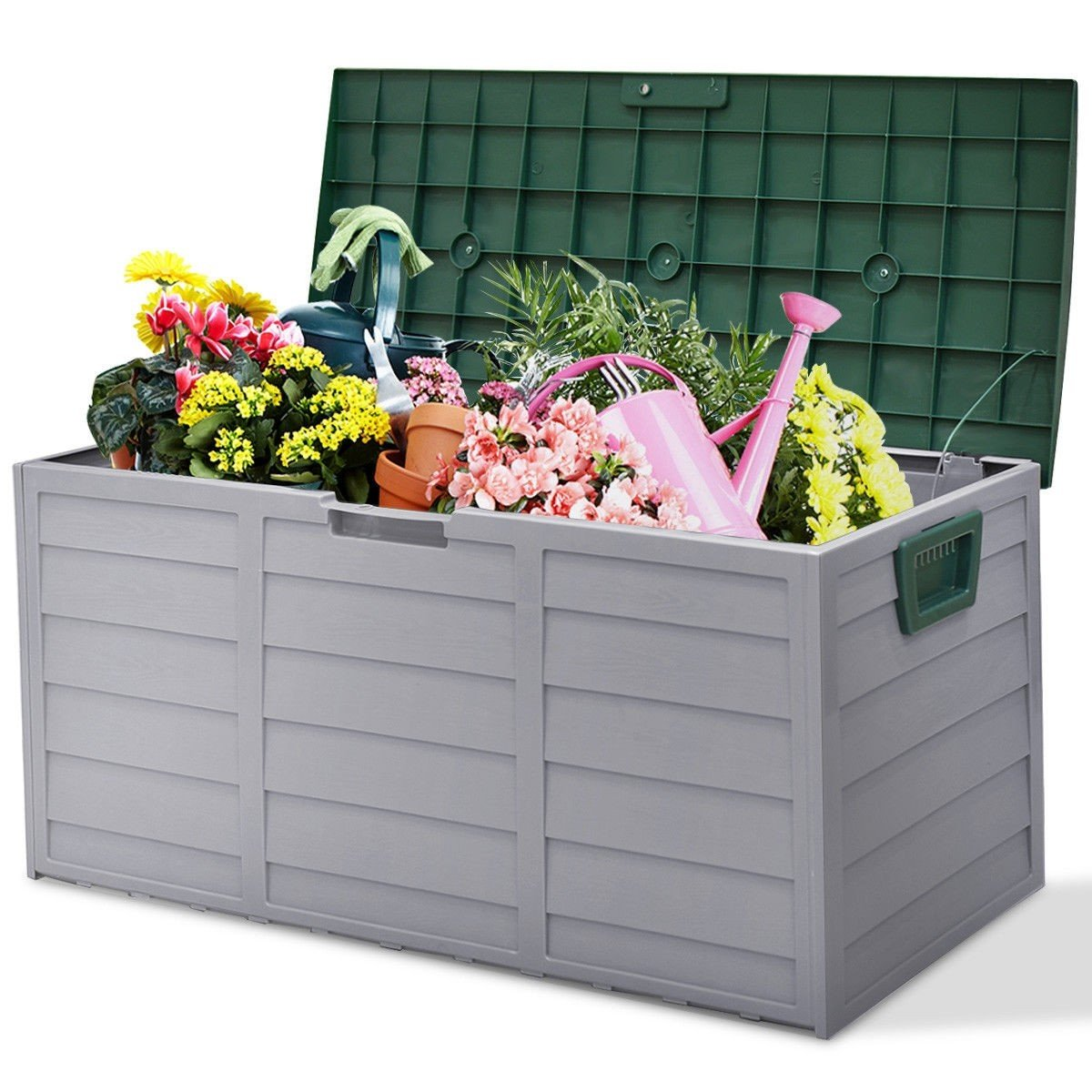 COSTWAY 70 Gallon Durable Outdoor Plasic Storage Box + FREE E-Book by COSTWAY (Image #5)