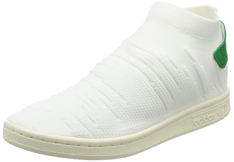 Adidas Damen Stan Smith Sock Primeknit Sneaker, Weiß (Footwear Weiß/Footwear Weiß/Grün)