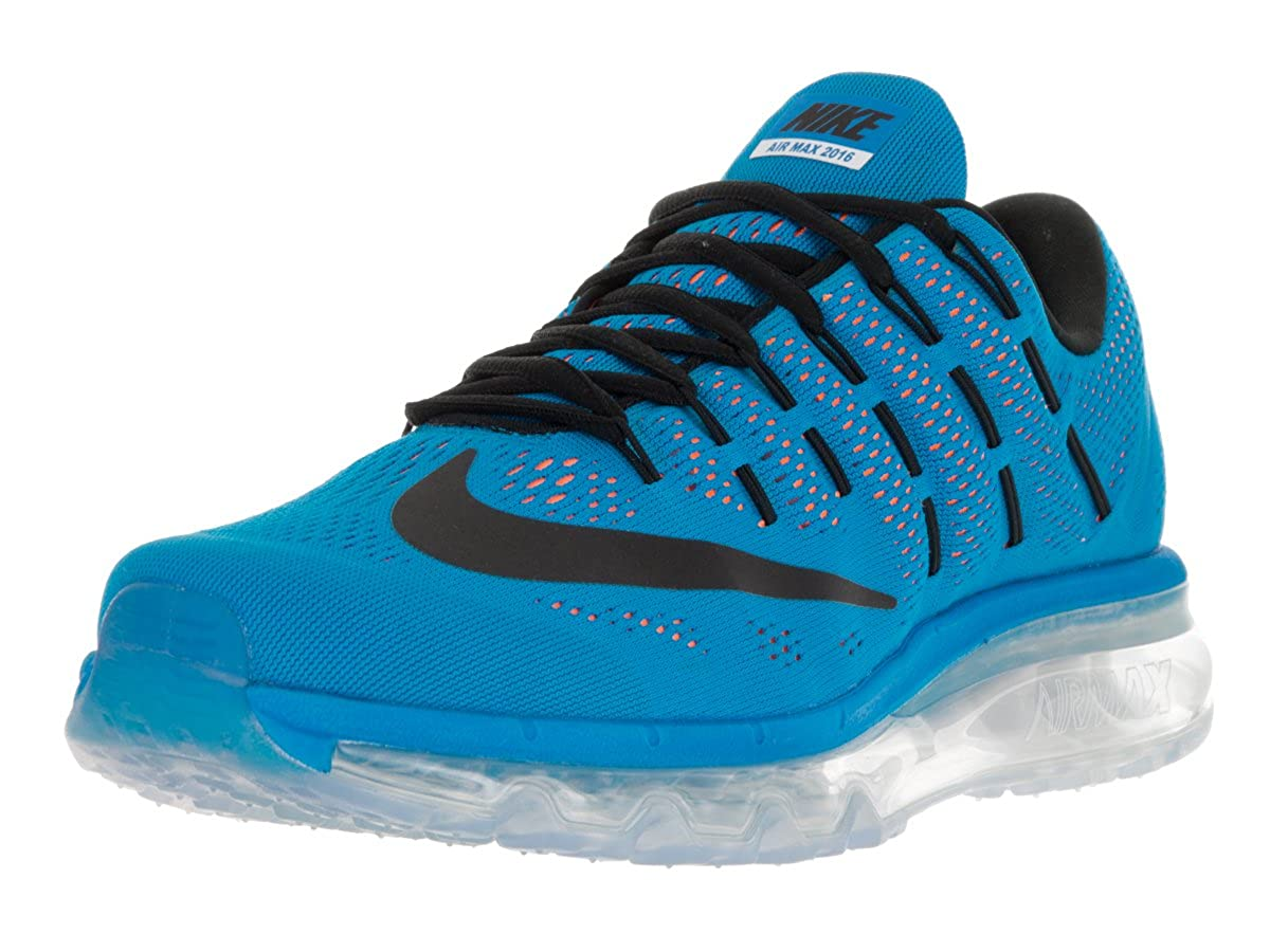 d11bd50f6419 Nike Men s Air Max 2016 Running Shoe Photo Blue Black Total Orange Size 8.  5 M US  Buy Online at Low Prices in India - Amazon.in