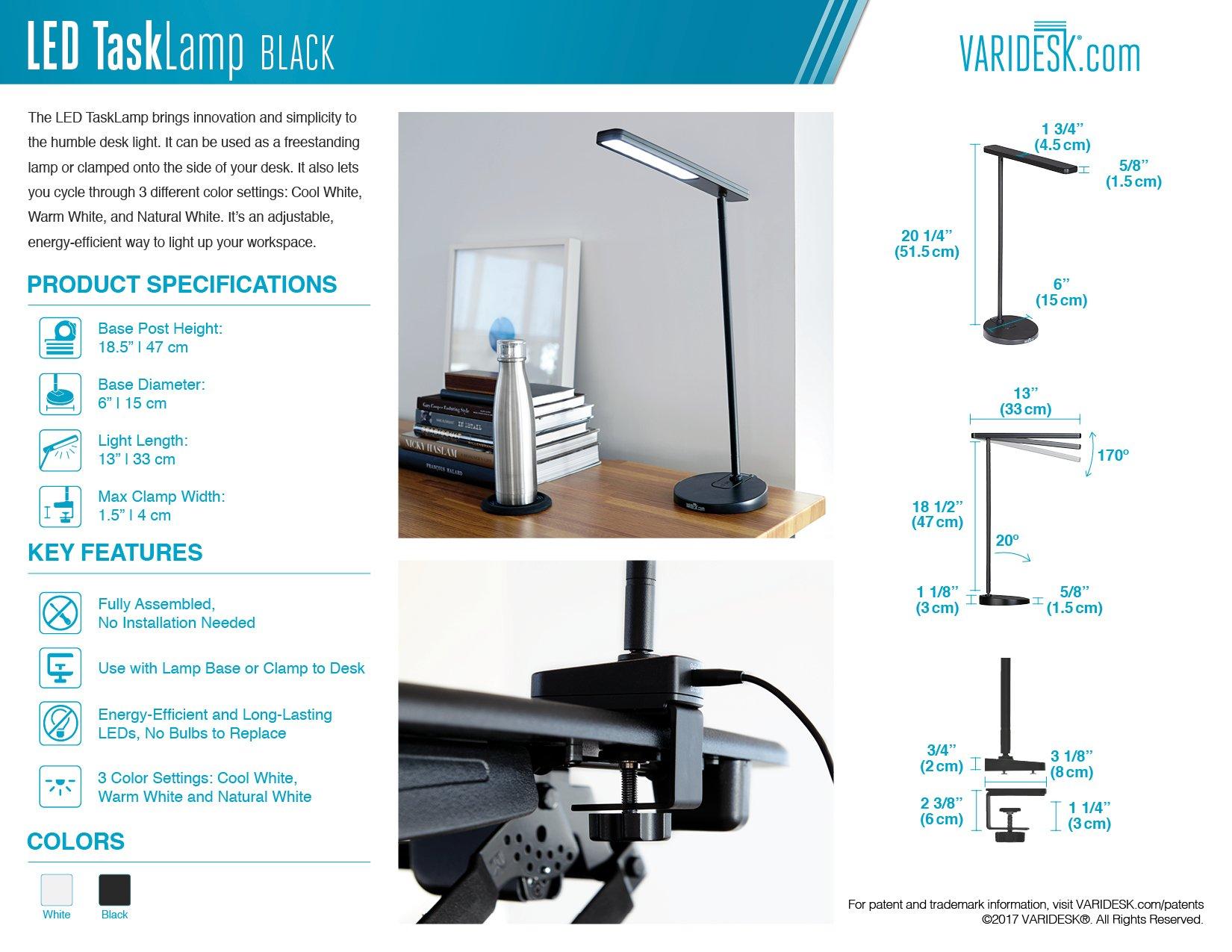 VARIDESK - LED Desk TaskLamp