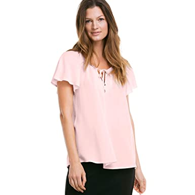 4c6ff07abae14 Ellos Women s Plus Size Flutter Sleeve Tunic at Amazon Women s Clothing  store
