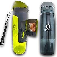 750ml Praktijk BPA-vrije sportfles anti-lekkage Dekseltrechter, Geïntegreerde Opslagklep Wandelen - Camping Fitness…