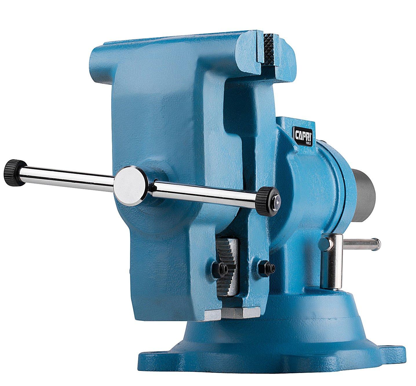 Capri Tools 10519 Rotating Base and Head Bench Vise, 6''
