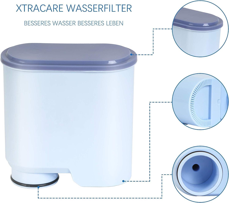Filtro de agua XtraCare para cafeteras autom/áticas Saeco y Philips//Saeco AquaClean 4 unidades