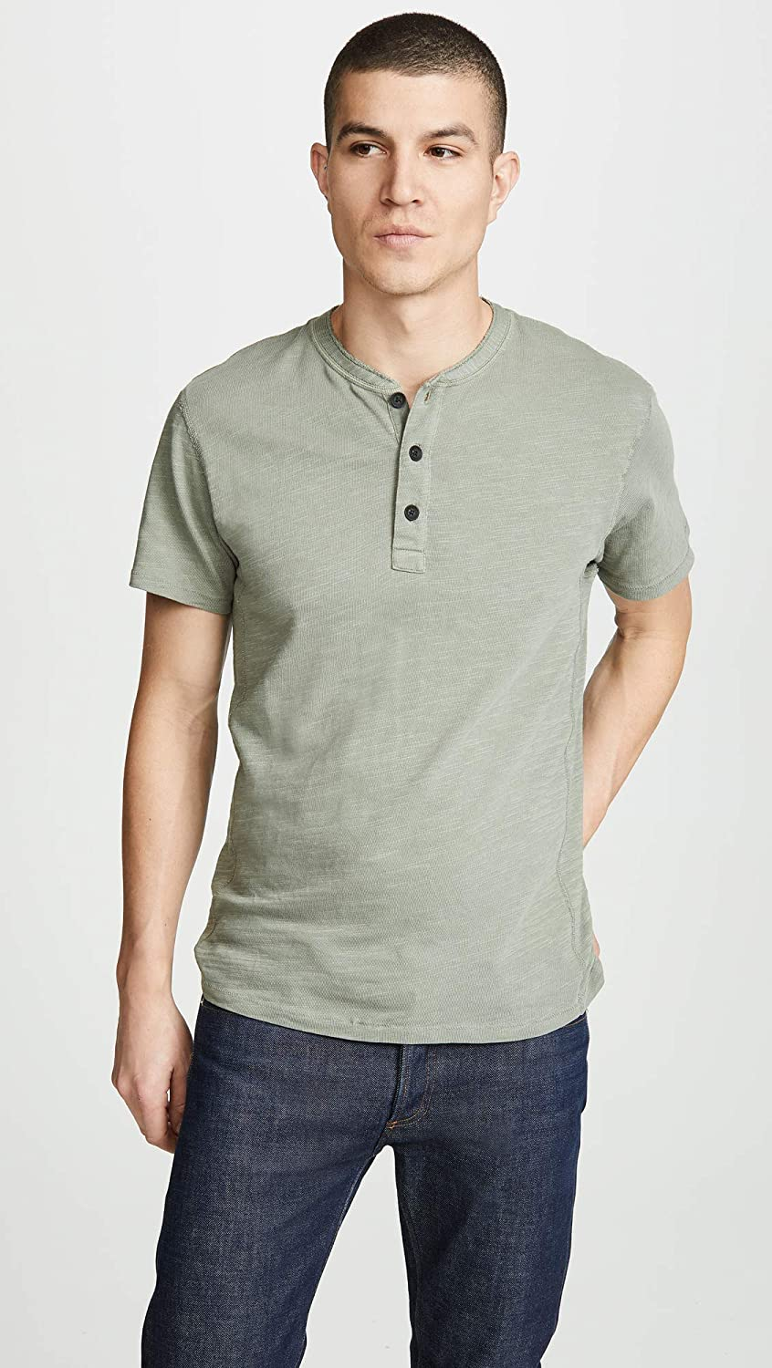 42a0b1fedbf Rag & Bone Standard Issue Men's Classic Short Sleeve Henley at ...