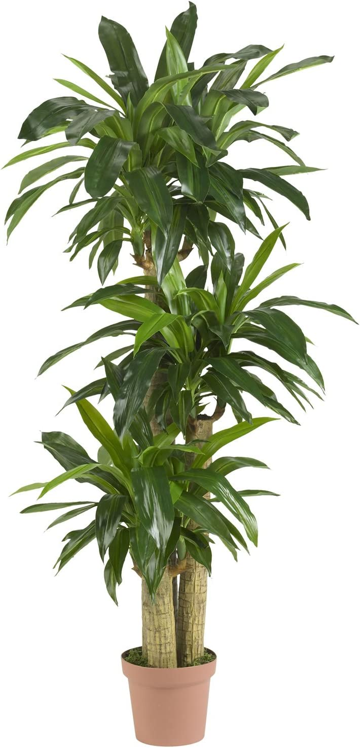 Nearly Natural 6584 57in. Corn Stalk Dracaena Silk Plant (Real Touch)