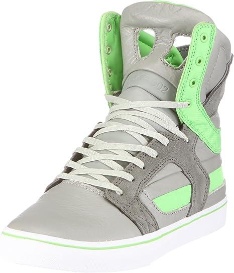 Supra Skytop II Grey/Lime Green Suede