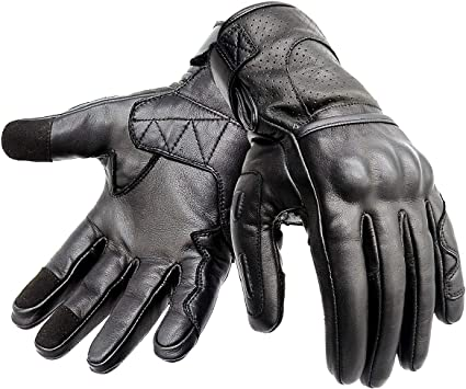 REAL LEATHER MOTORBIKE,MOTORCYCLE RACING  KNUCKLE PROTECTION GLOVES
