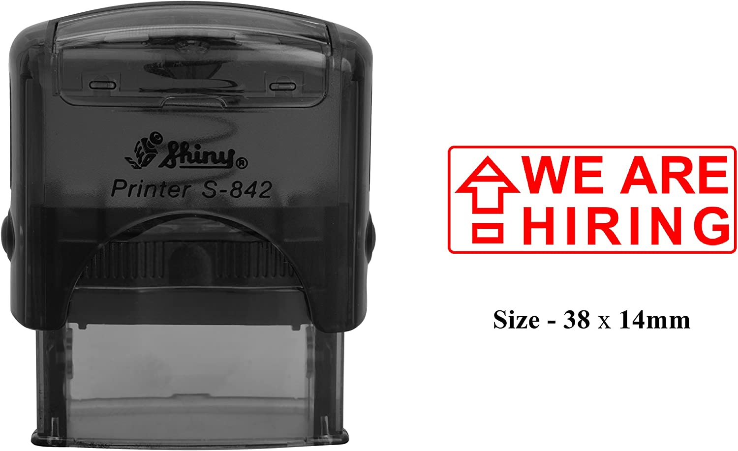 WE ARE HIRING Rubber Stamp Clear Print Office Use Shiny S-842 Self-Inking Stamp