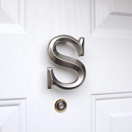 Brass Monogram Letter S Door Knocker