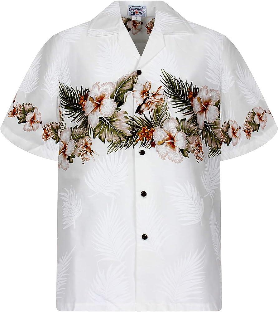 P.L.A. Original Camisa Hawaiana, Chest Pressure, blanco 3XL: Amazon.es: Ropa y accesorios