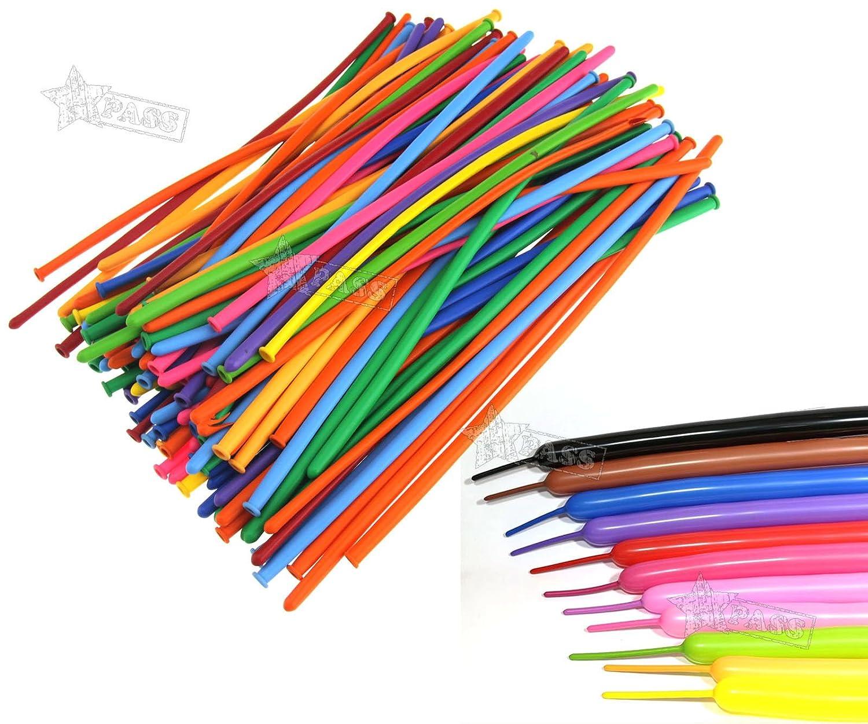 Generic. Tion lunghi 100pcs fai da te Decorazione S DIY Deco adatto BA coloreato per matrimonio Rful sui Long balloon Ding BI festa di compleanno.