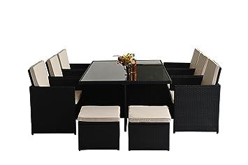 Outsunny® Alu Poly Rattan Gartenmöbel Garten Set Sitzgruppe Rattan Sofa  Loungemöbel Garnitur