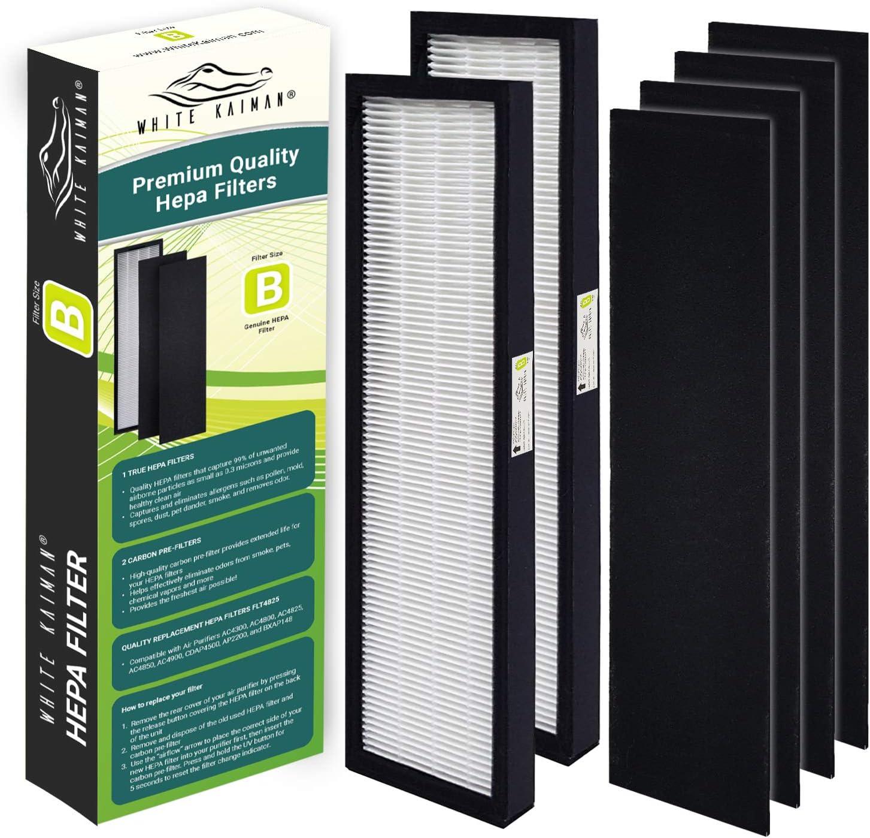 AC4825 filter for GermGuardian FLT4825 HEPA Filter B AC4825 Series Air Purifier NISPIRA . Active Carbon Pre-Filter 4 sheet