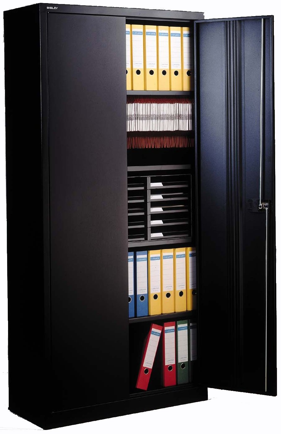 Bisley E782A04 - Büroschrank - 4 Borde - 2 Türen - Schwarz: Amazon ...