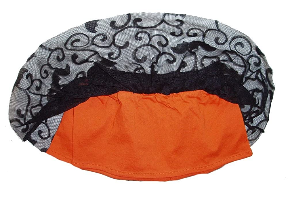Halloween Infant Toddler Girls Black Orange Tutu Skirt Bats