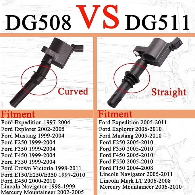 yitamotor paquete de bobinas de encendido para Ford 4.6L 5.4L V8 dg508 dg457 dg472 dg491 Juego completo de 8pcs Ford Crown Victoria Expedition F-150 F-250 ...