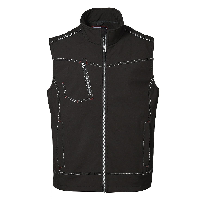Noir 3XL ID - Veste softshell sans hommeches de travail (coupe régulière) - Homme