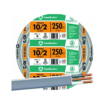 250\' 10/2 W/G UF Cable - Electrical Cables - Amazon.com