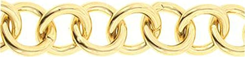 BELOVED SPARKLES 7in Adena 18k Gold Heart Chain Bracelet