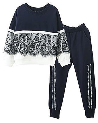 85559960cbe Amazon.com  Little Girls Cute Long Sleeve Top   Pant Clothes Set ...