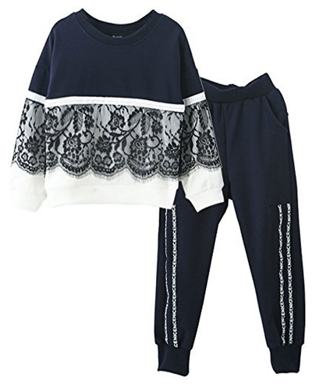 Little Girls Cute Long Sleeve Top & Pant Clothes Set