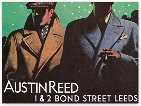 Amazon Com Advertisement Austin Reed Bond Street Leeds Yorkshire Art Poster Print Posters Prints