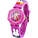 David Fashion Kids Sports Watch Girls Boys 3D Cartoon Silicone Children Watches Time Learner Mini 25mm Dial Birthday Christmas Gift (Rabbit)