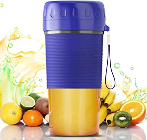 Portable Blender, Personal Blender with BPA Free Tritan Blender Bottles, USB Rechargeable Blenders for Shakes and Smoothies, 300ML Fruit Juicer One-handed, Useful&Convenient, Home&Office&Library&Gym