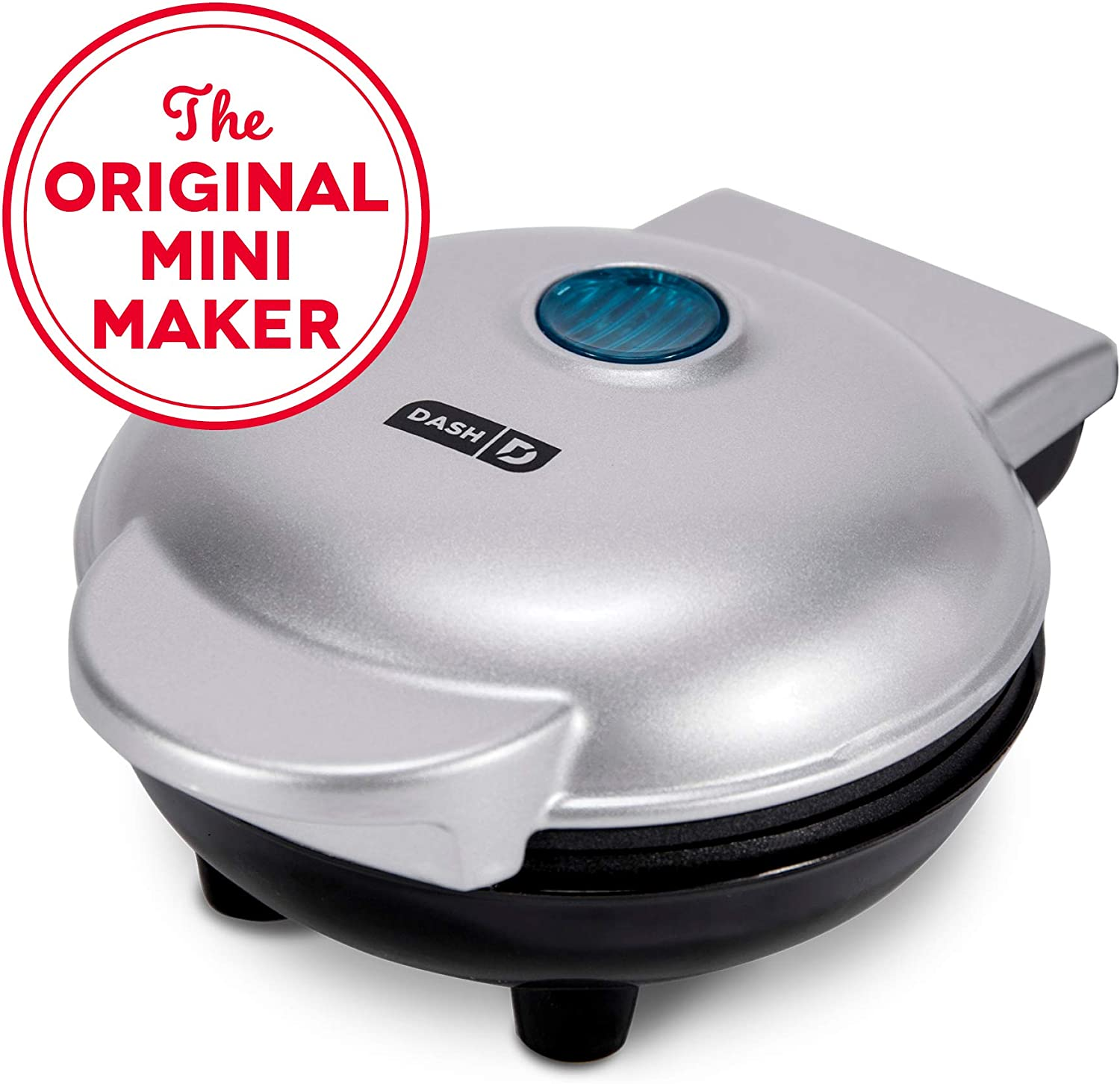 Dash DMS001SL Mini Maker Electric Round Griddle for Individual Pancakes, Cookies