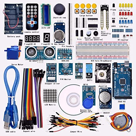 Utini Super Mega 2560 Kit de Inicio para Arduino 1602LCD RFID relé ...
