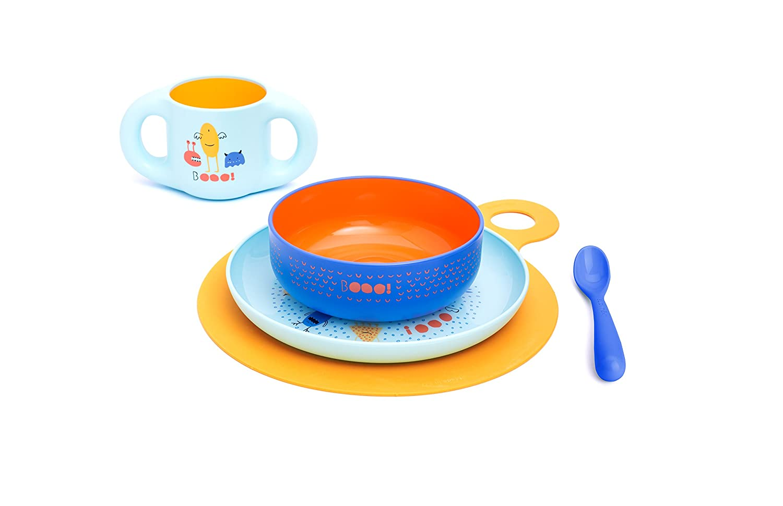 Collection Booo mois Suavinex Set de Repas Bleu 6