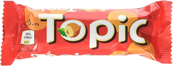 Topic Single Chocolate Bar 47 G Pack Of 40