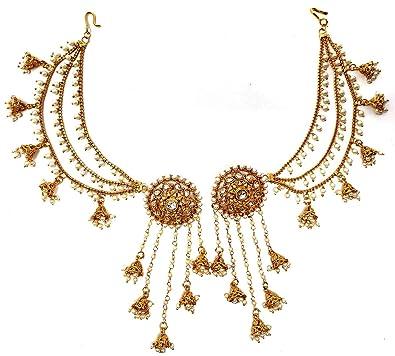 Buy Swag Fashion S Traditional Gold Jewellery Bahubali Pearl Long