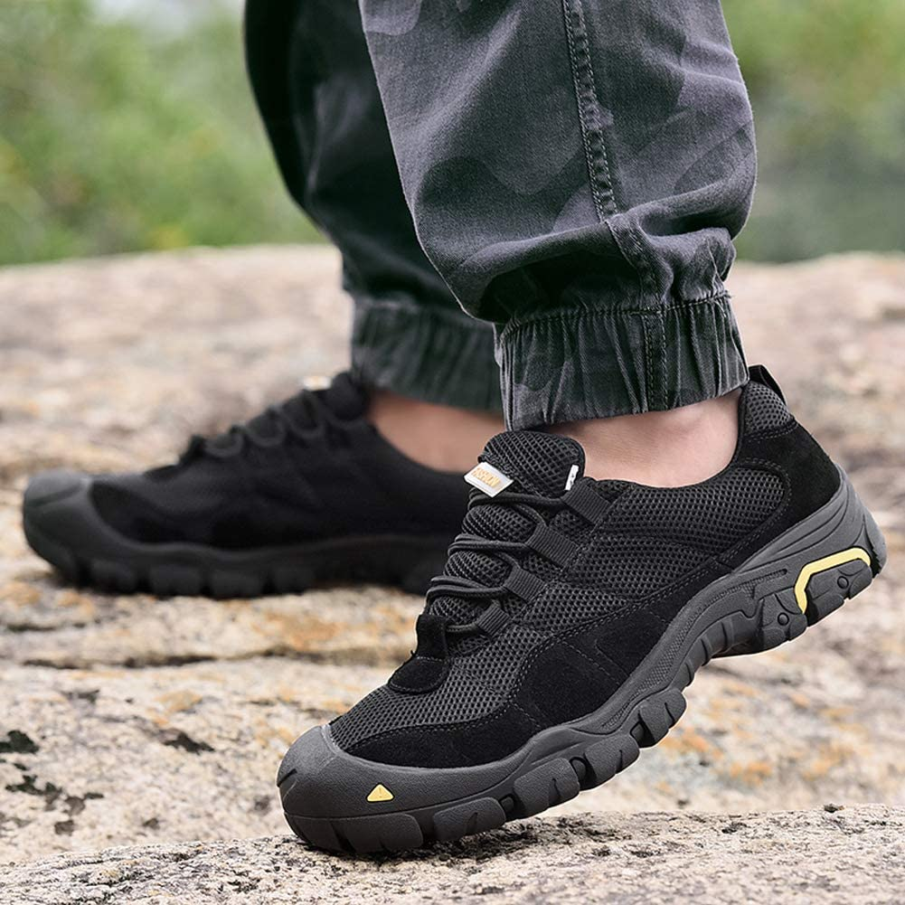 SELCNG Hiking Shoes Outdoor Non-Slip wear-Resistant Walking Shoes Breathable mesh Sports Shoes