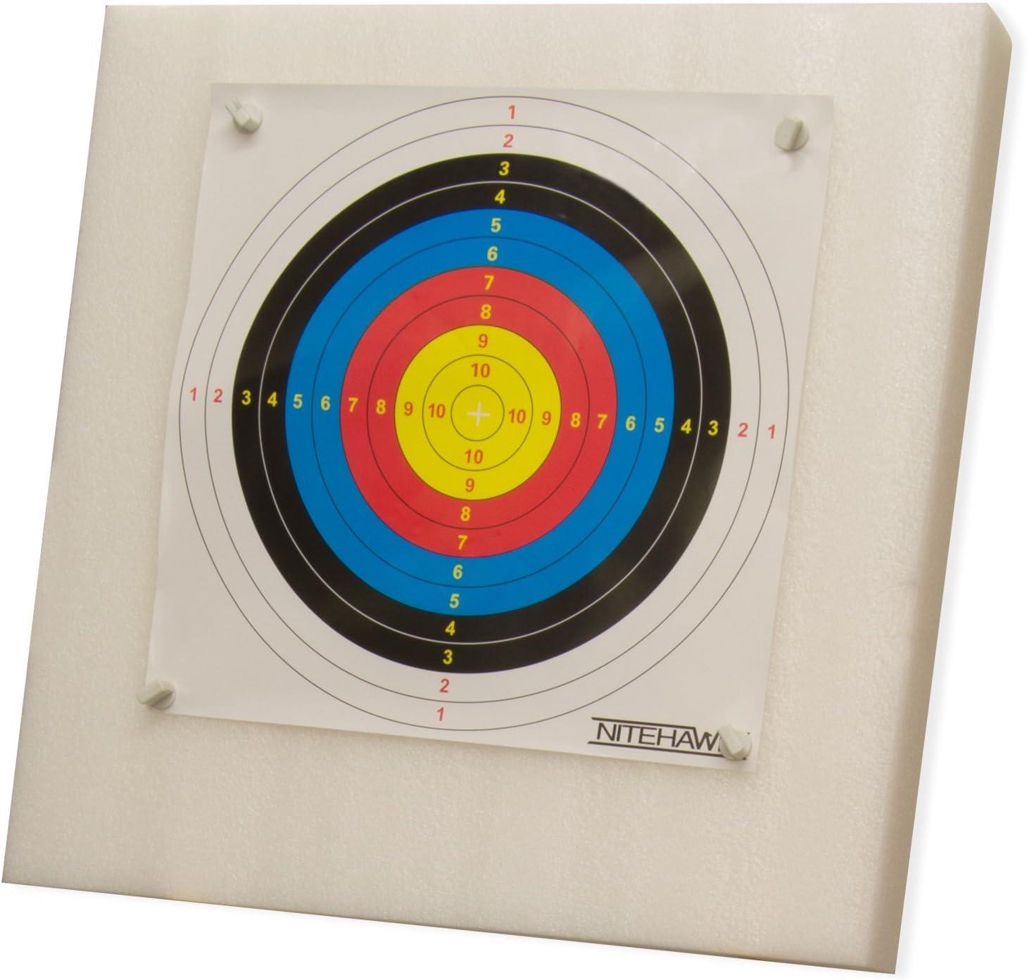 20 Paper Faces Nitehawk 60x60cm Archery Self Healing Foam Target Board