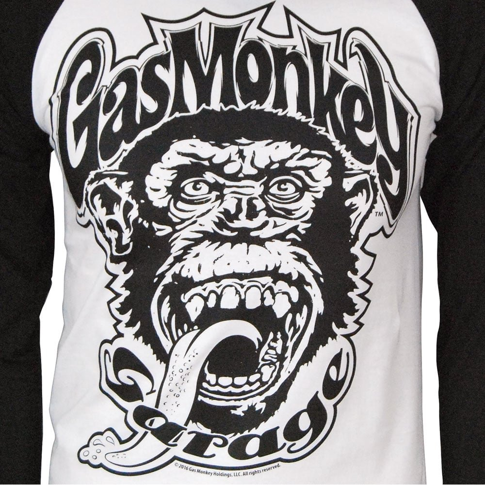 Amazon.com: Gas Monkey Garage Mens Official 04 Baseball Long Sleeve T Shirt Black: Books