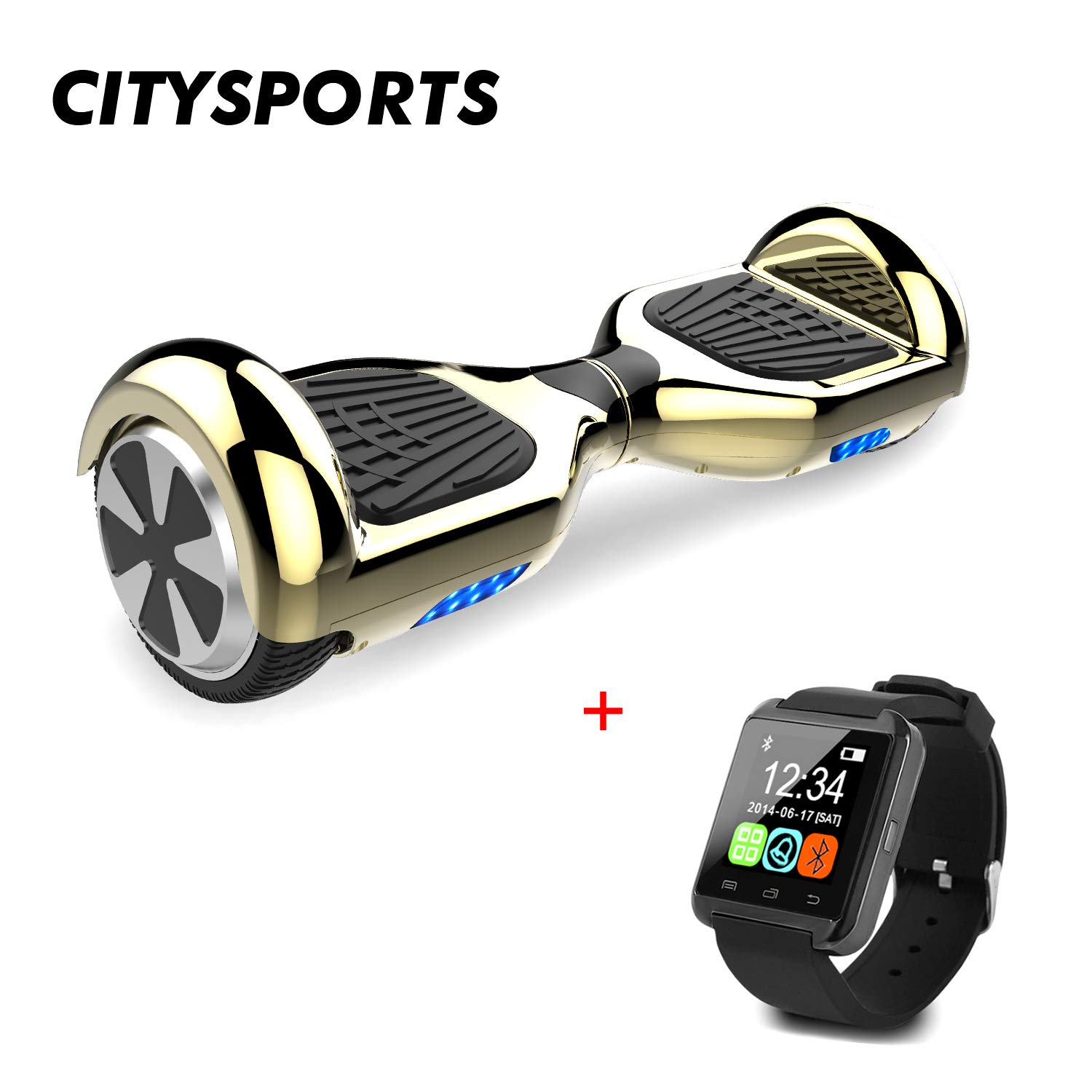 CITYSPORTS Hoverboard 6.5 Pulgadas, Balance Board Patinete Eléctrico 2x350W LED