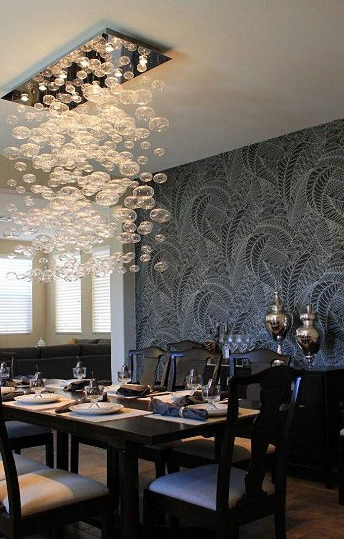 Moooni modern rectangular bubble chandelier lighting pendent ceiling