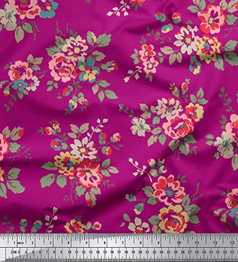 Floral Print Fabric 44 Inches Wide 65 GSM Georgette Material By The Yd